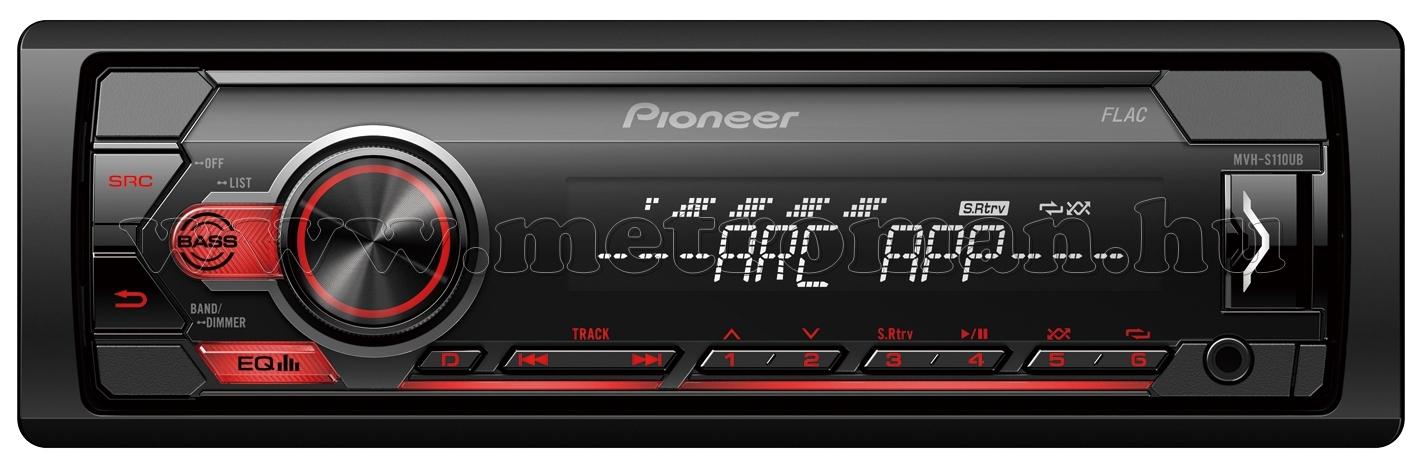 Pioneer MVH-S110UB autó rádió