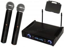 Vezeték nélküli mikrofon, 2 db kézi mikrofonnal MVN 700