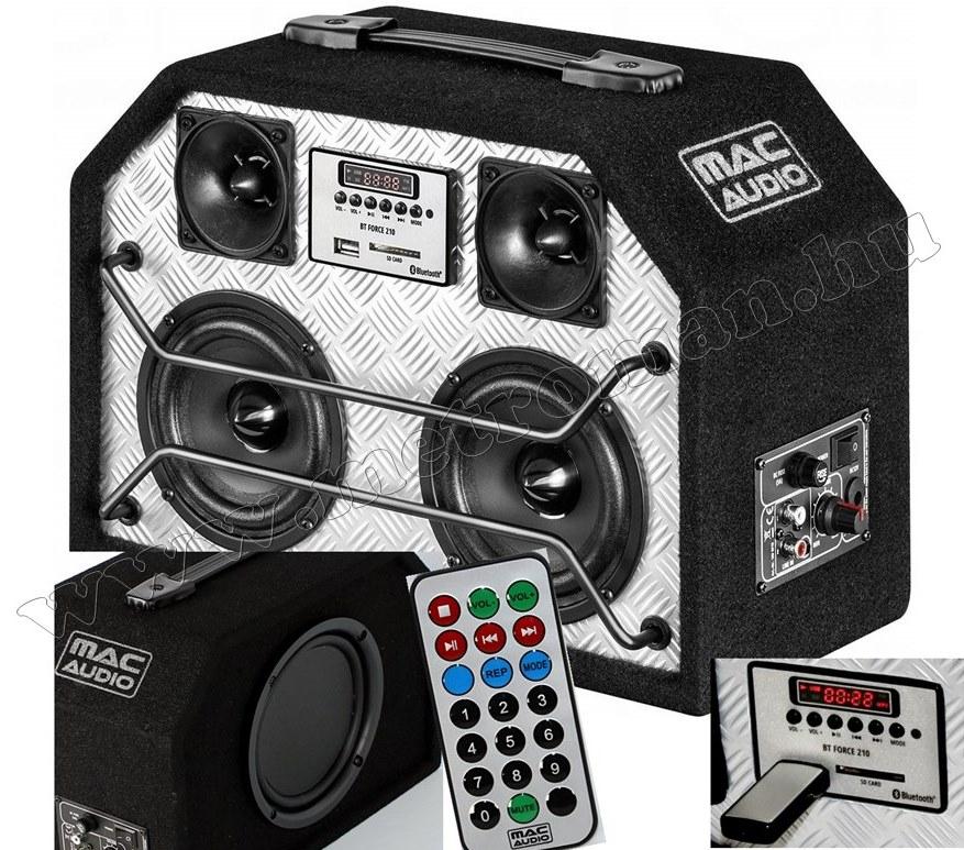 Hordozható USB/SD/MP3 és Bluetooth zene lejátszó MacAudio BT Force 210