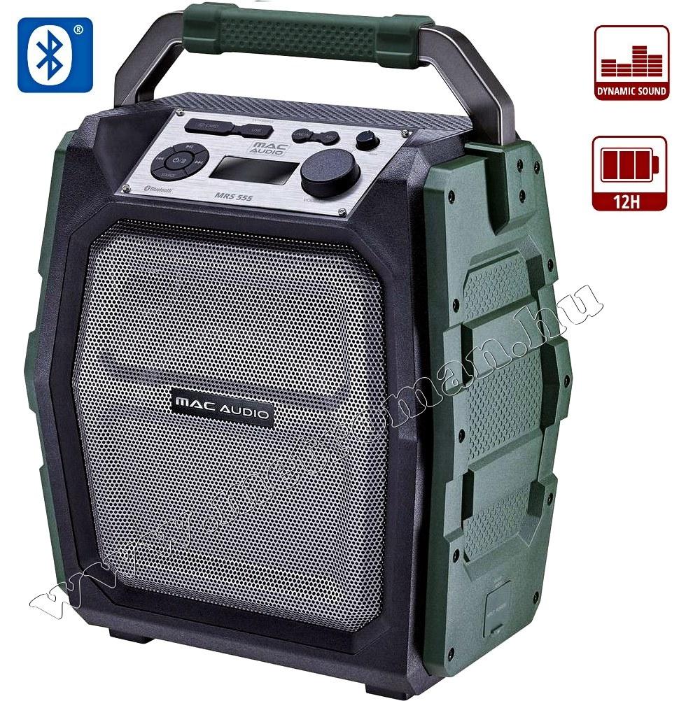 Hordozható USB/SD MP3 Bluetooth Karaoke hangfal és zenelejátszó MacAudio MRS 555