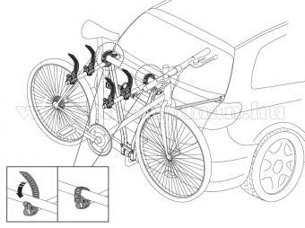 Autós kerékpártartó, kerékpárszállító vonóhorogra, Menabo Marius 3