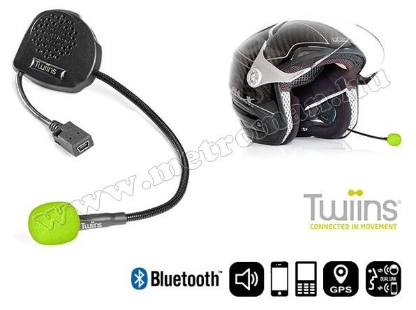 Motoros Bluetooth kihangosító és headszett Twiins D1VA