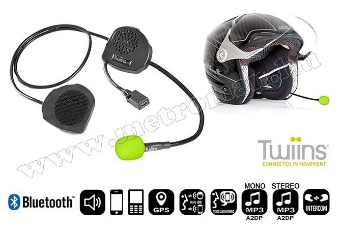 Motoros Bluetooth kihangosító és headszett Twiins D3