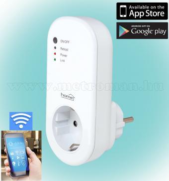 Android, iPhone mobiltelefonnal távirányítható Wifi okos konnektor NVS 2 RF