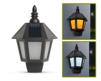 Napelemes fali LED lámpa lánghatással 11244