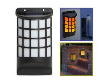 Napelemes fali LED lámpa lánghatással 11246