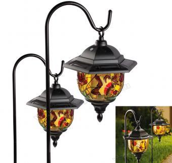 Napelemes kerti Tiffany lámpa szett 2 db-os MM9618-Solar