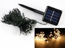 Napelemes LED égősor, Kerti Fényfüzér, Kültéri, M0793 Meleg Fehér
