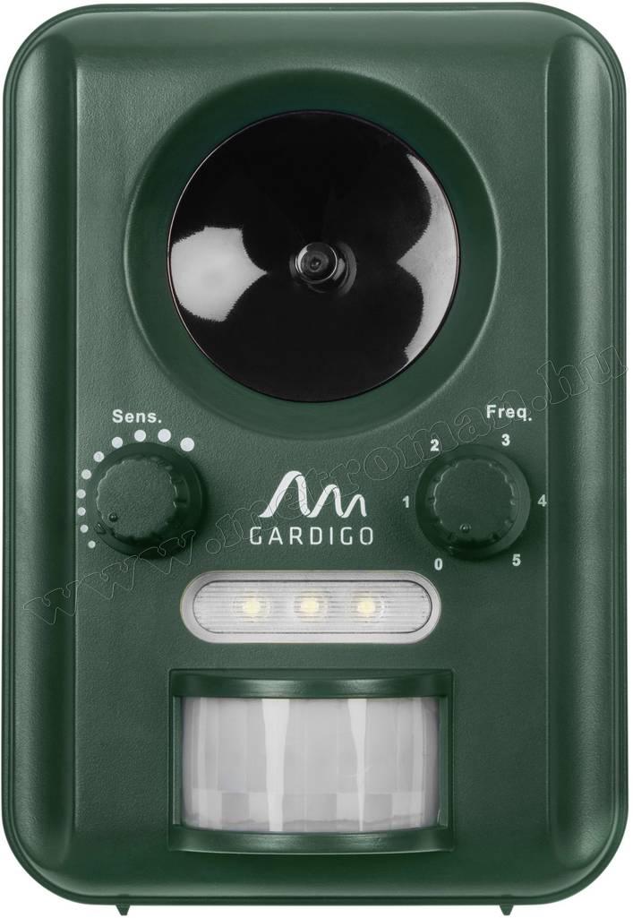 Ultrahangos, napelemes Multi Frekvenciás kiállat riasztó Gardigo Solar M058
