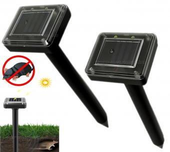 Napelemes vakondriasztó karó 2 db-os csomag MG9D-Solar