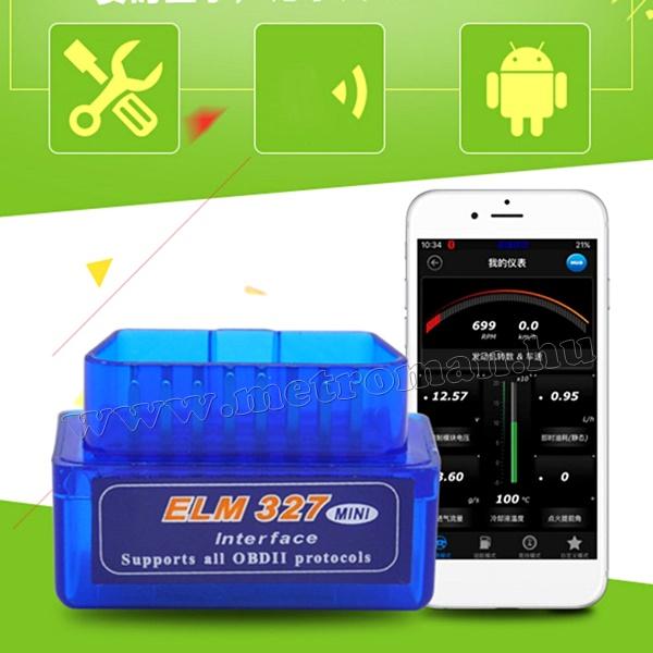 OBD2 bluetooth autó diagnosztikai hibakódolvasó törlő Android telefonokhoz OBD2-4962-ELM327