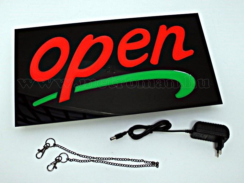 LED világító reklám tábla, OPEN SMD-019