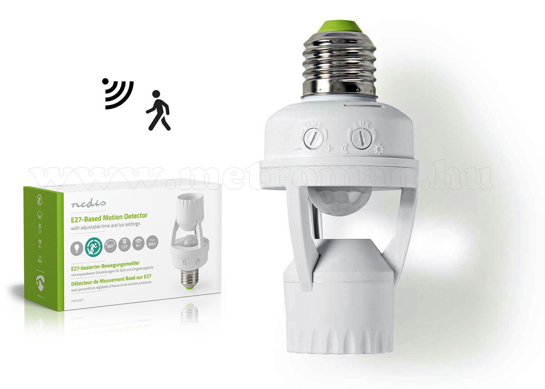 Mozgásérzékelős  E27-es lámpa foglalat PIRFI60WT