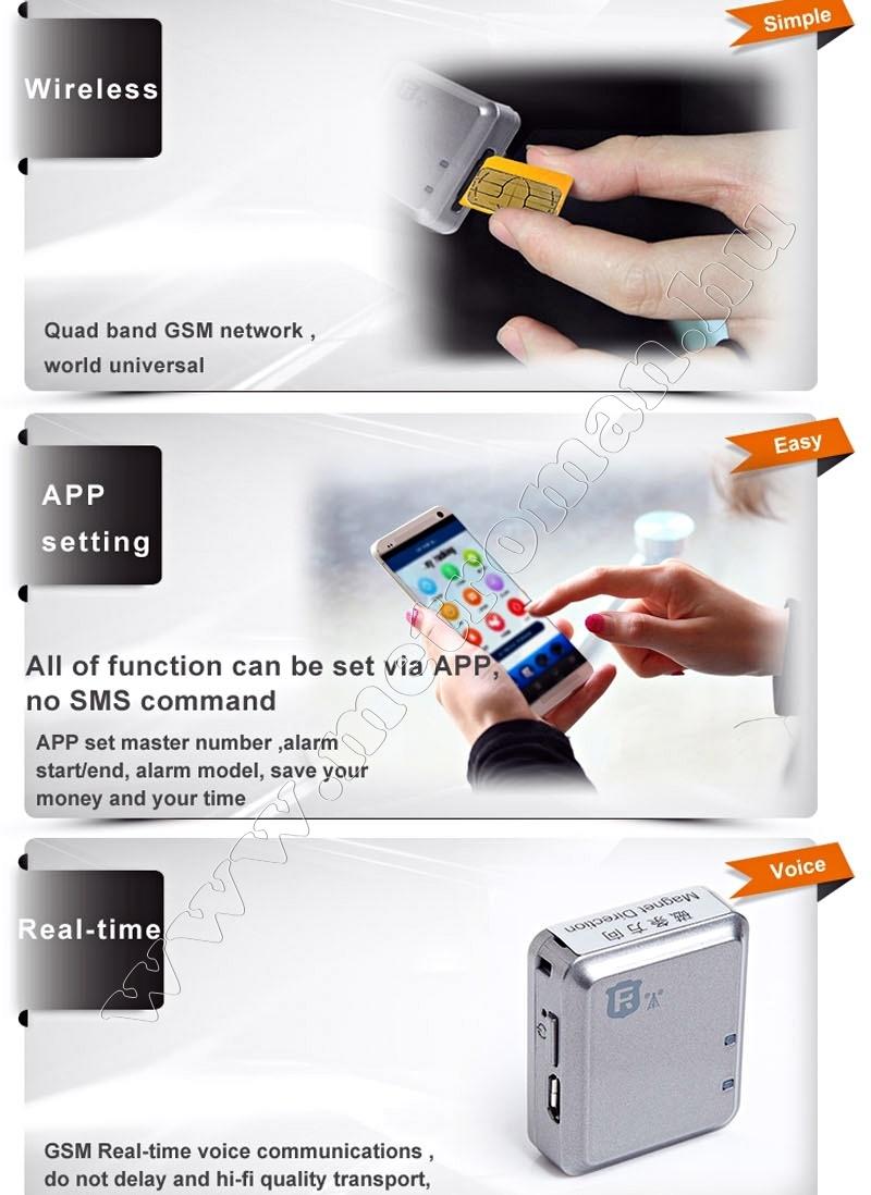 GSM / GPRS nyomkövető és riasztó Mlogic RF-V13