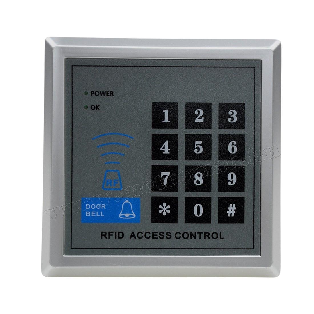 Kártyás és kódzáras Beléptető szett Mlogic RFID X1N18