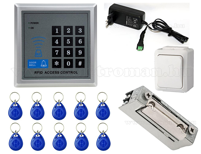 Komplett Kártyás és kódzáras Beléptető szett mágneszárral Mlogic RFID X1N18/EX