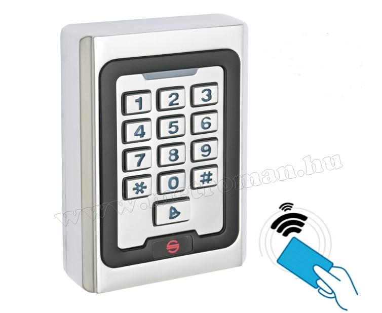 Kártyás és kódzáras Beléptető RFID M-500