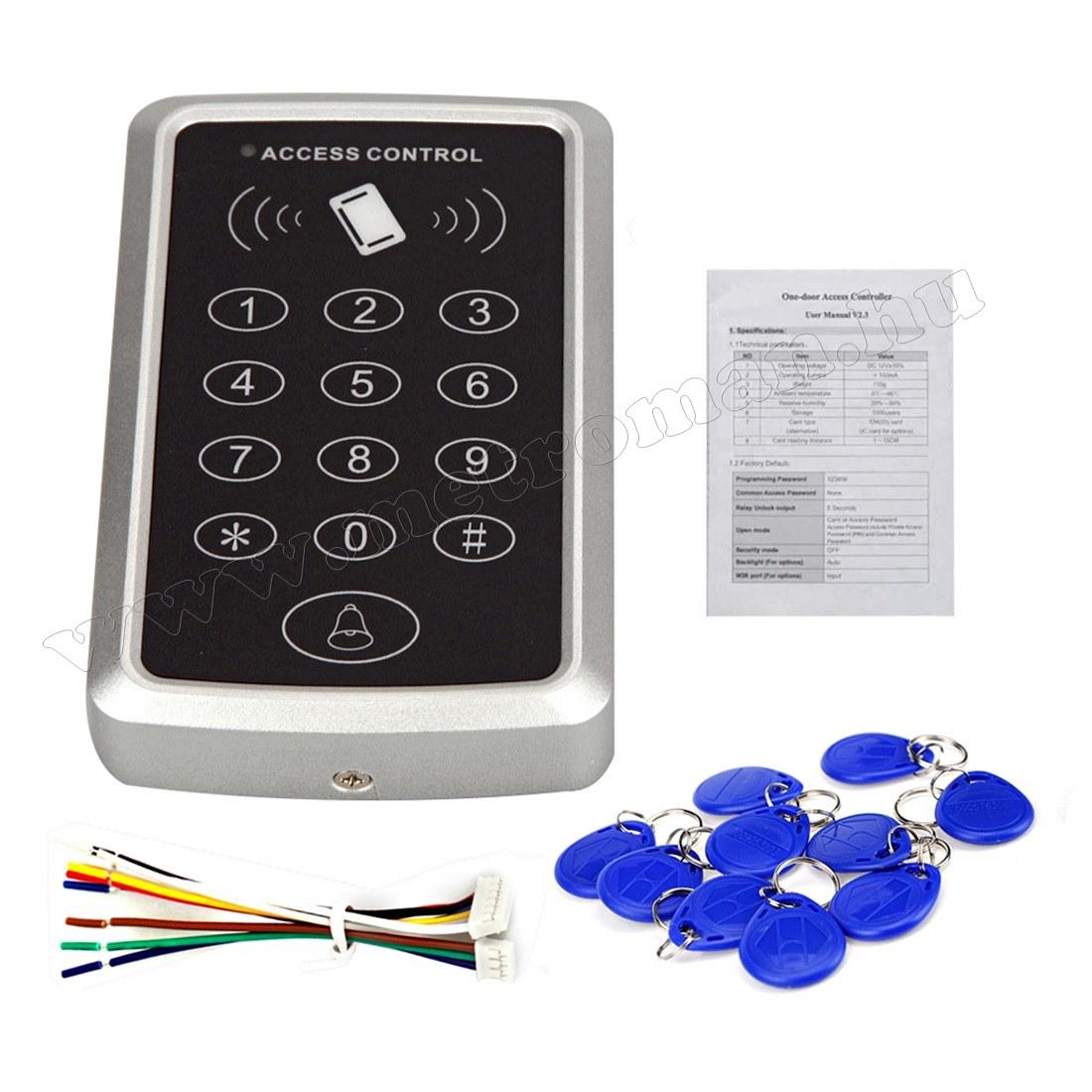 Kártyás és kódzáras Beléptető szett Mlogic RFID X3