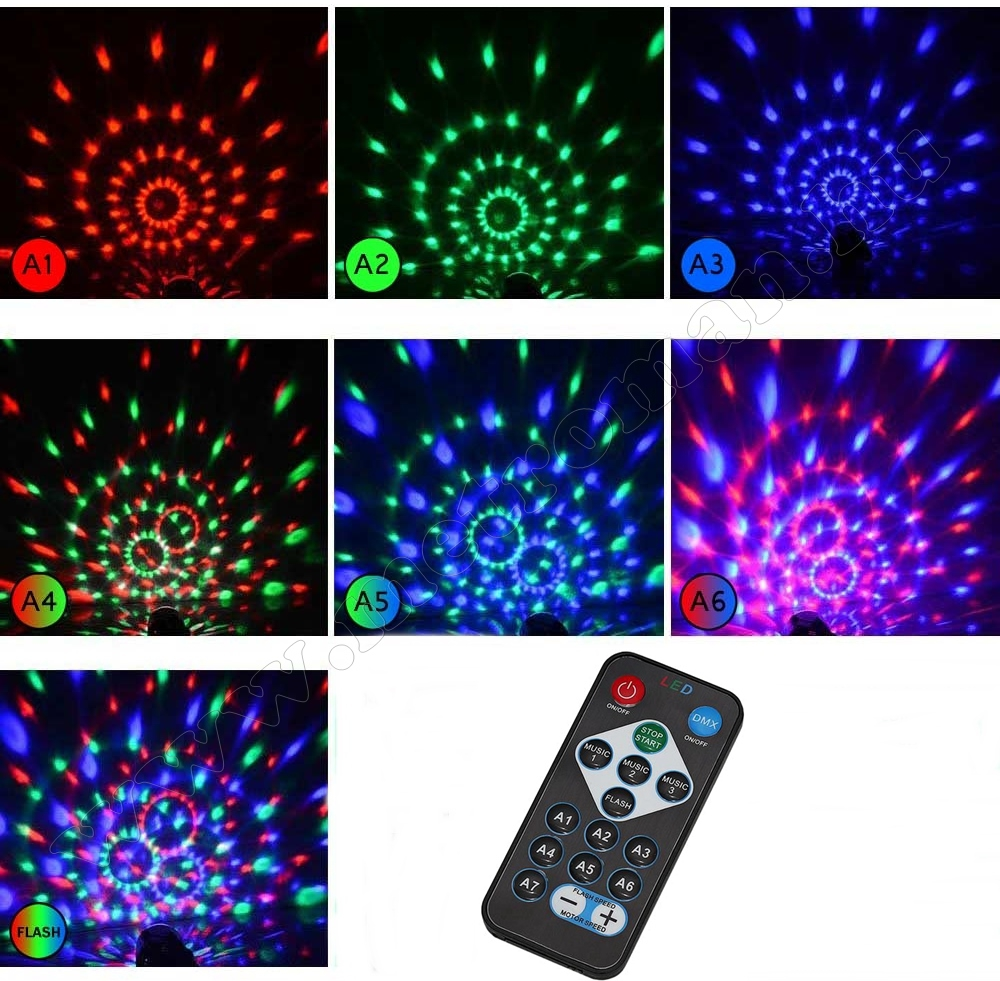 RGB LED Magic diszkó gömb M7056