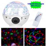 RGB LED Magic diszkó gömb és USB/SD Bluetooth MP3 lejátszó MDL 012 BT