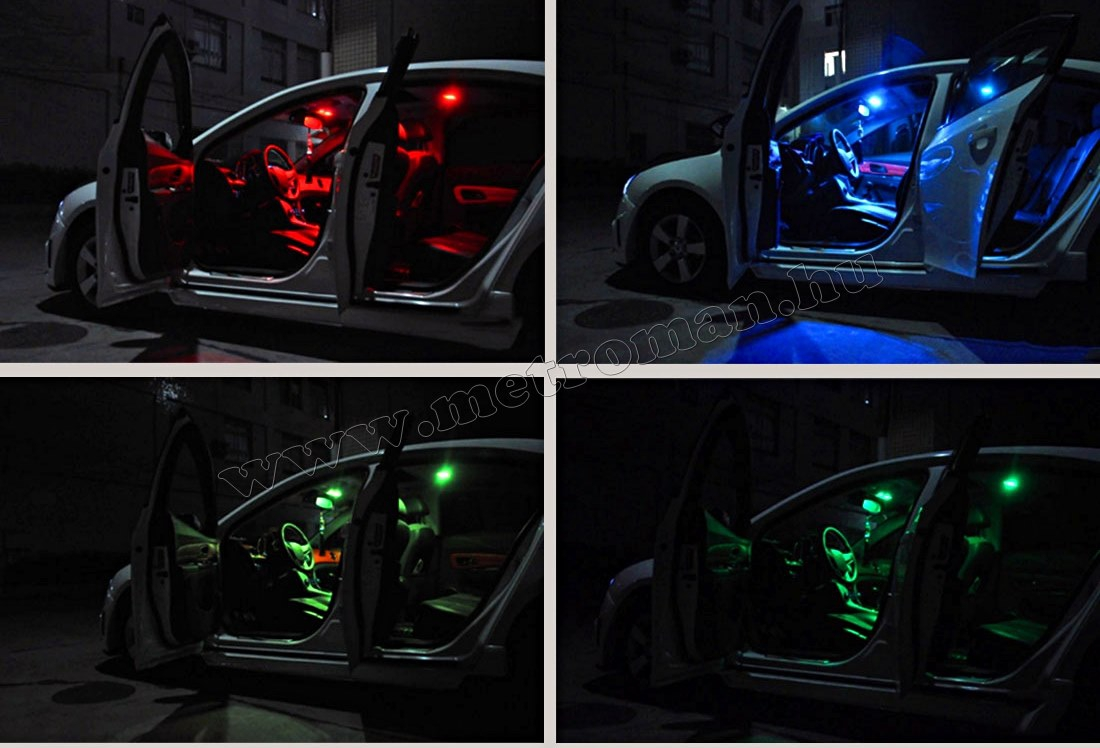 Autós RGB színváltós LED panel távirányítóval MM-20078 RGB