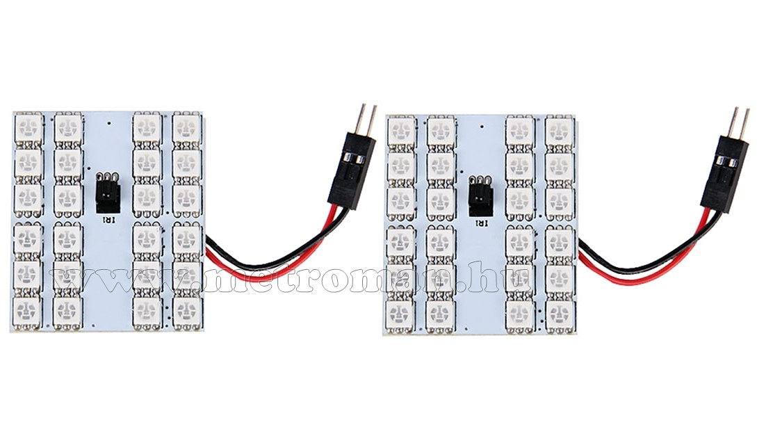 Autós RGB színváltós LED panel távirányítóval MM-20079 RGB