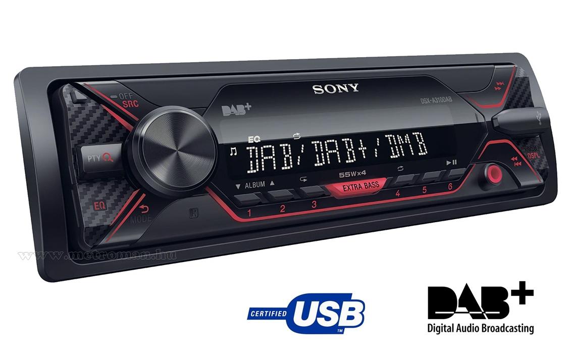 Digitális DAB rádiós USB MP3 Autórádió Sony DSX-A310DAB