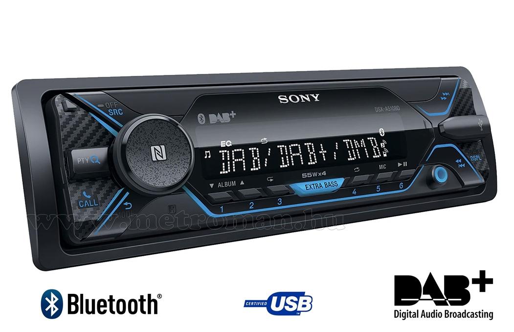 Digitális DAB rádiós USB MP3 Bluetooth Autórádió Sony DSX-A510BD