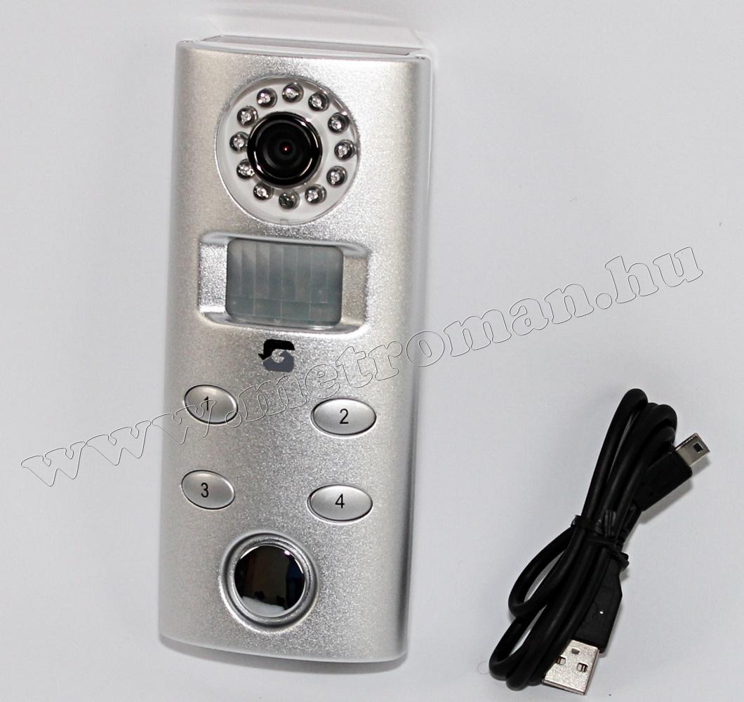 Mozgásérzékelős riasztó, SD kártyás DVR kamerával SP62C