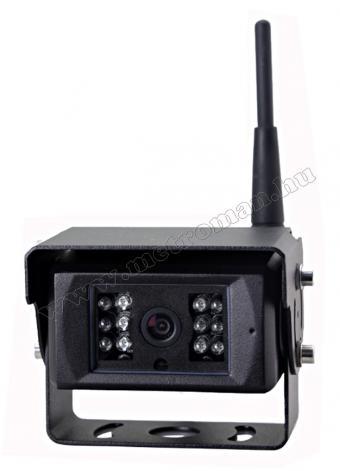 Ipari kivitelű Vezeték nélküli tolatókamera szett, SD kártyás DVR LCD monitorral, Sharp Vision Targonca