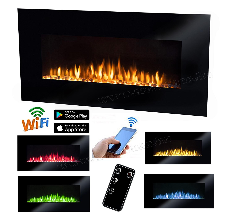SMART Wifi Okos elektromos fűtés és látvány kandalló FKK 3000 WIFI