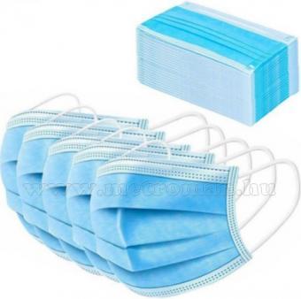 Szájmaszk 3 rétegű kék 50 db-os csomag