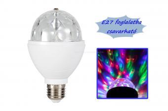 Színes RGB LED diszkógömb lámpa MDL4-27