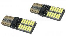 Autós Can-Bus LED izzó 24 db SMD LED-del fehér T10-24SMD
