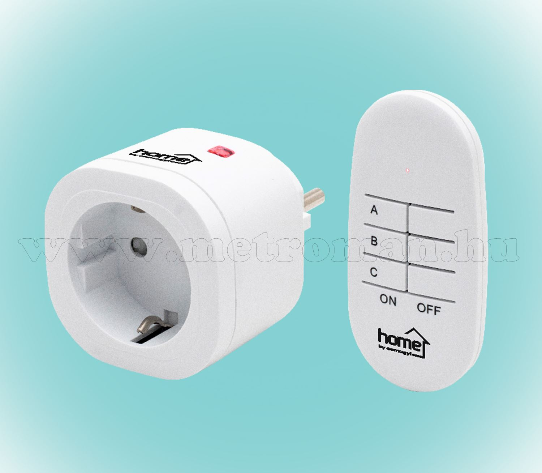 Távirányítós hálózati aljzat, konnektor szett, 1 db-os TH 3011