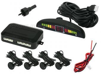 Tolatóradar LED kijelzővel MCPW4-19-B Fekete színű szenzorokkal