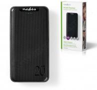 Külső mobil akkumulátor, USB töltő, 20000 mAh UPBK20002BK