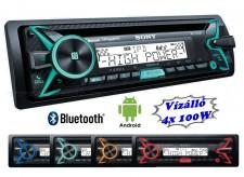 Nagyteljesítményű  Vízálló CD/USB/MP3/Bluetooth autó és hajó rádió, Sony MEX-100BT
