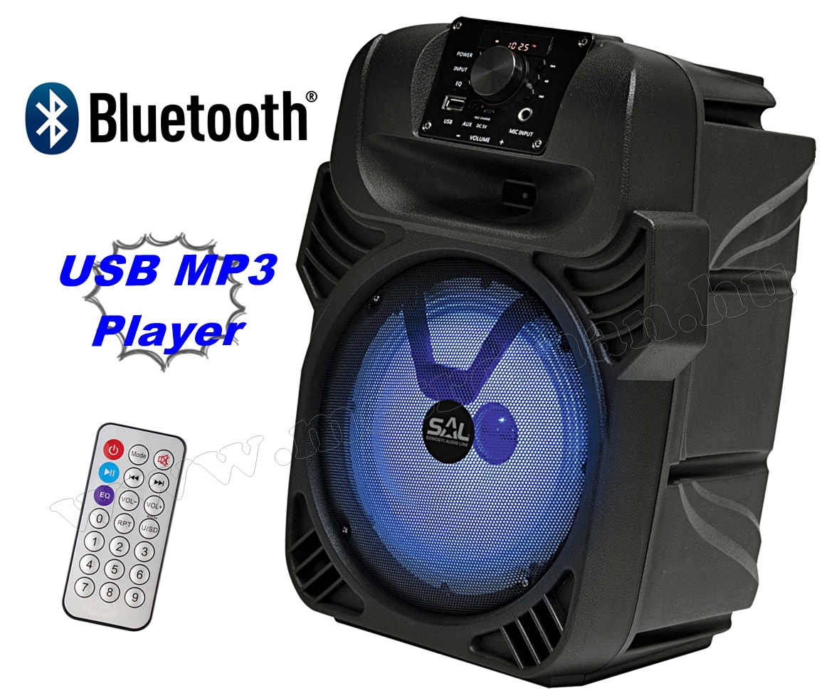Hordozható party hangszóró USBMP3 Bluetooth Multimédia hangfal FM rádióval és Karaoke funkcióval PAR 20BT