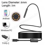 Android USB-C endoszkóp kamera, LED világítással, Mlogic MM-0851
