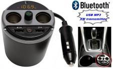 USB MP3 FM transzmitter és Bluetooth kihangosító és zenelejátszó FMBT X6