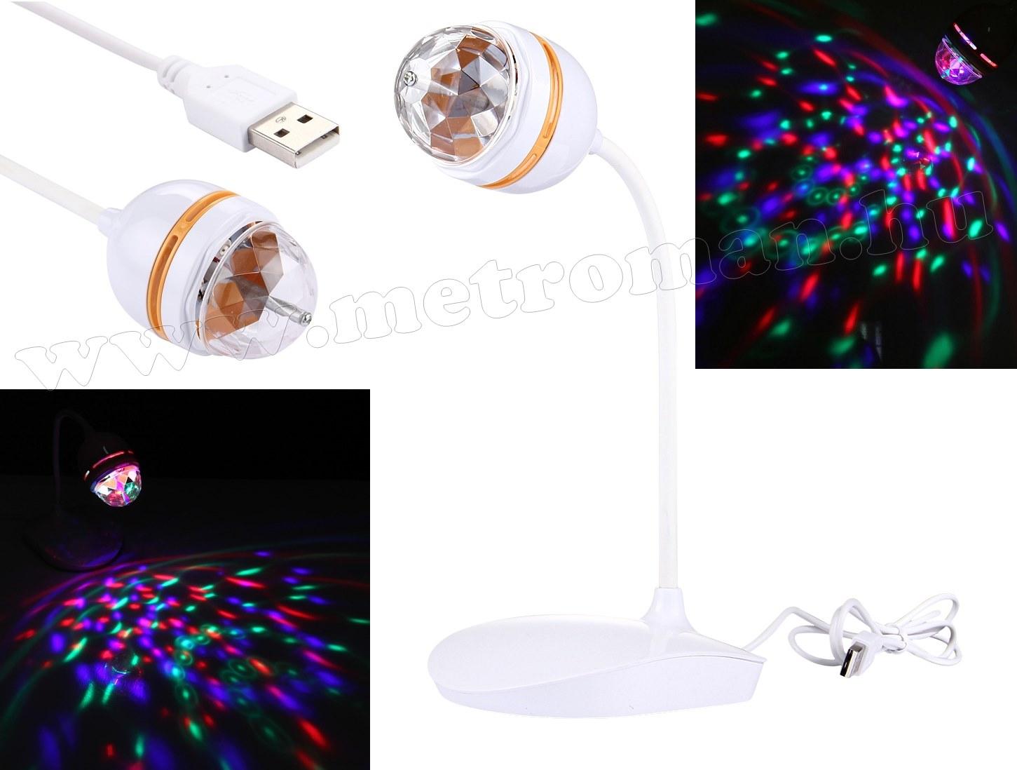 Színes USB RGB LED diszkógömb lámpa  M0430W RGB