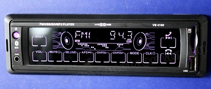 USB / SD MP3 Bluetooth érintőképernyős autórádió VoxBox VB 4100 BT