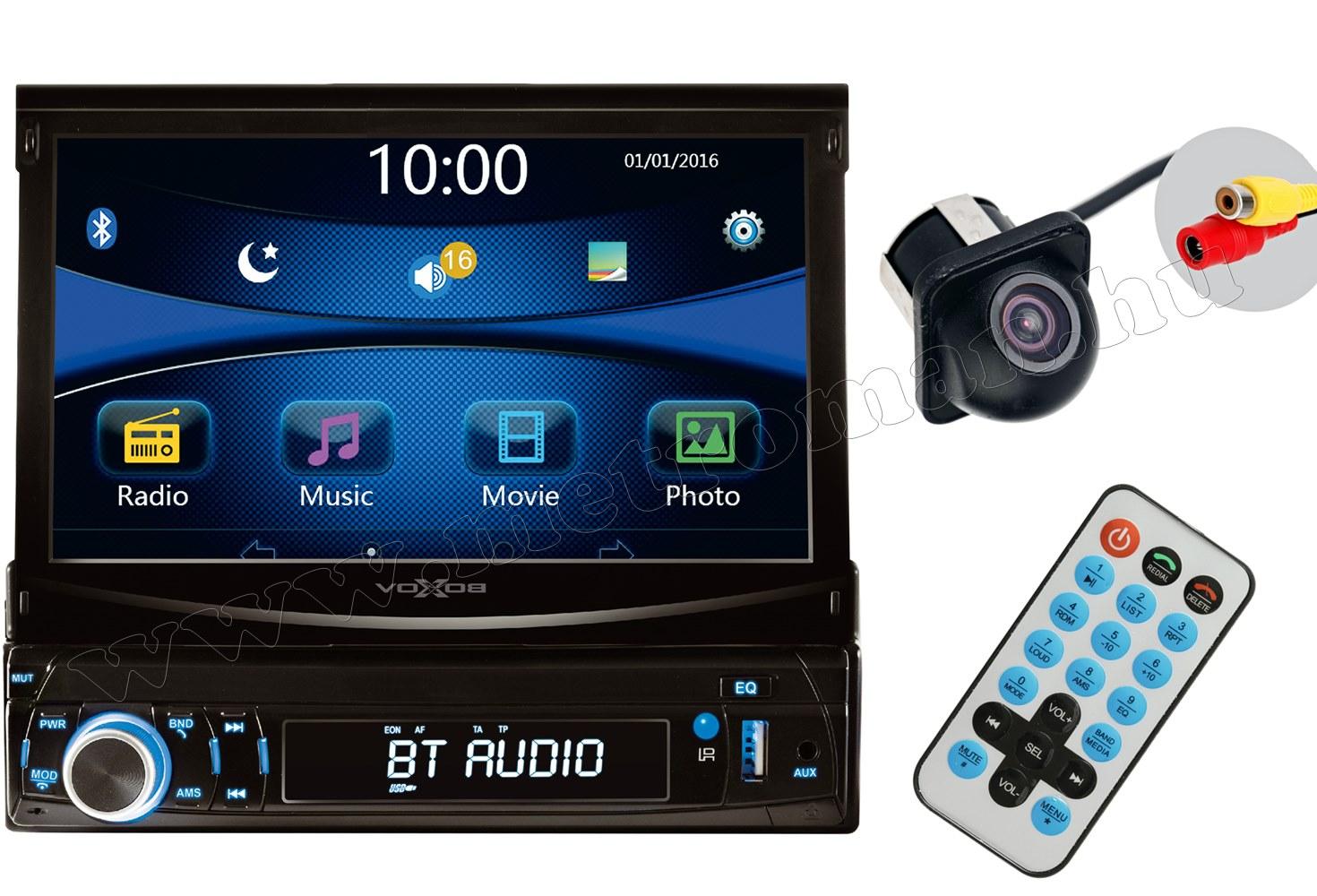 USB/SD MP3 MP4 MP5 Bluetooth Multimédiás autórádió LCD monitorral Tolatókamerával VB X700 BT CAPS0229