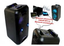 Hordozható party hangszóró USB/SD MP3 Bluetooth Multimédia hangfal Karaoke funkcióval PAR 220BT