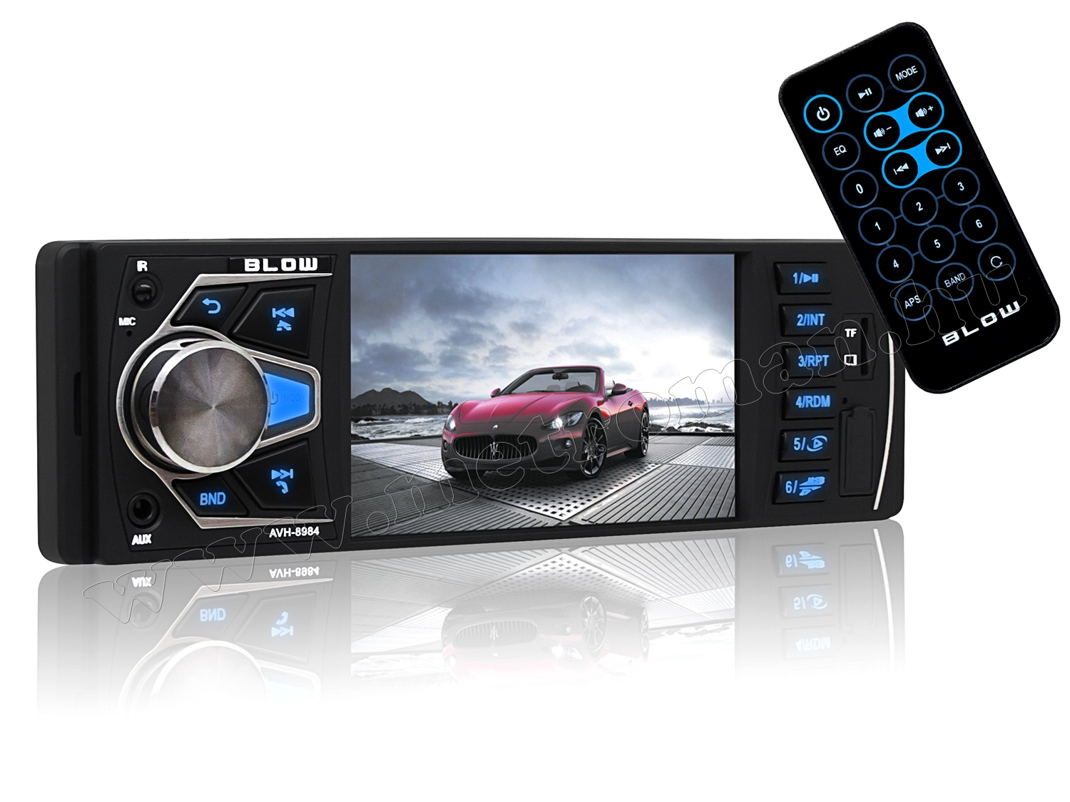 USB/SD MP3 MP4 MP5 Bluetooth Multimédiás autórádió LCD monitorral AVH-8984
