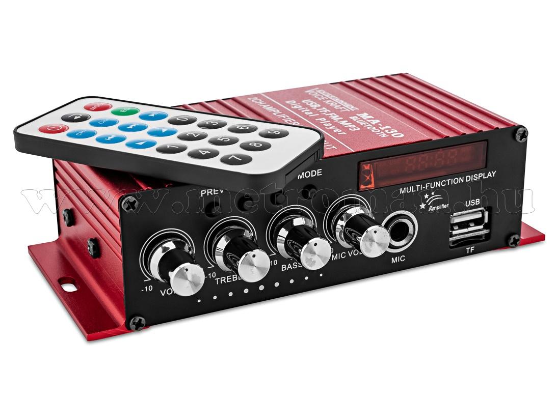 Autós USB/SD MP3 erősítő mikrofon bemenettel MA-130