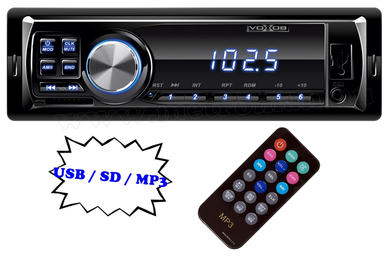 USB / SD MP3 autórádió, VoxBox VB 1000/BL