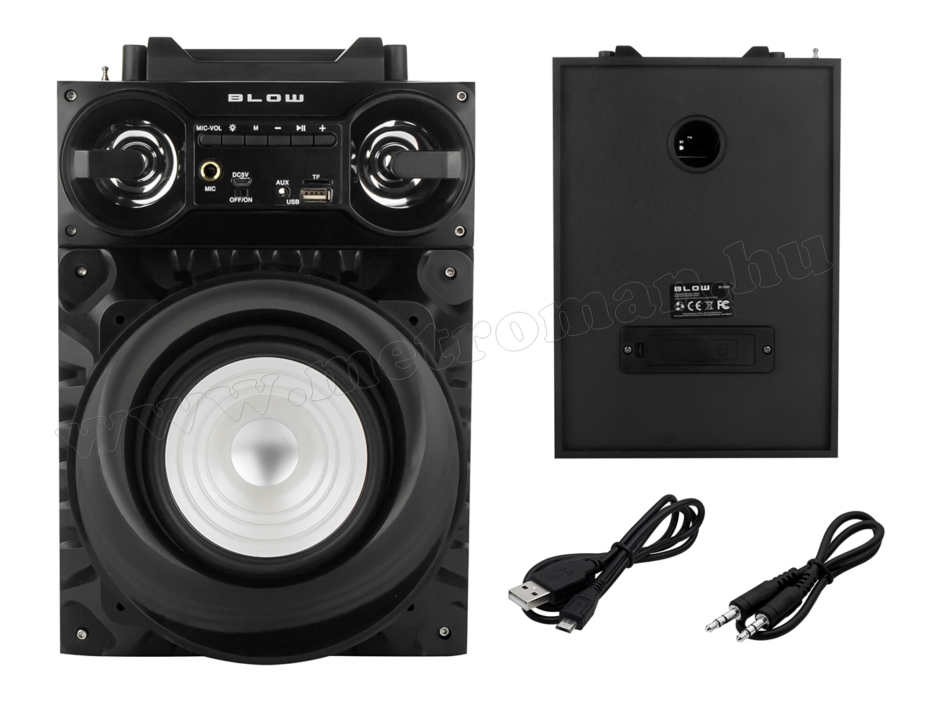 Hordozható USB/SD/MP3 lejátszó, Bluetooth Multimédia hangfal FM rádióval és Karaoke funkcióval BT810