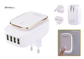 USB töltő utazó nemzetközi hálózati adapter MYWAY CM63048
